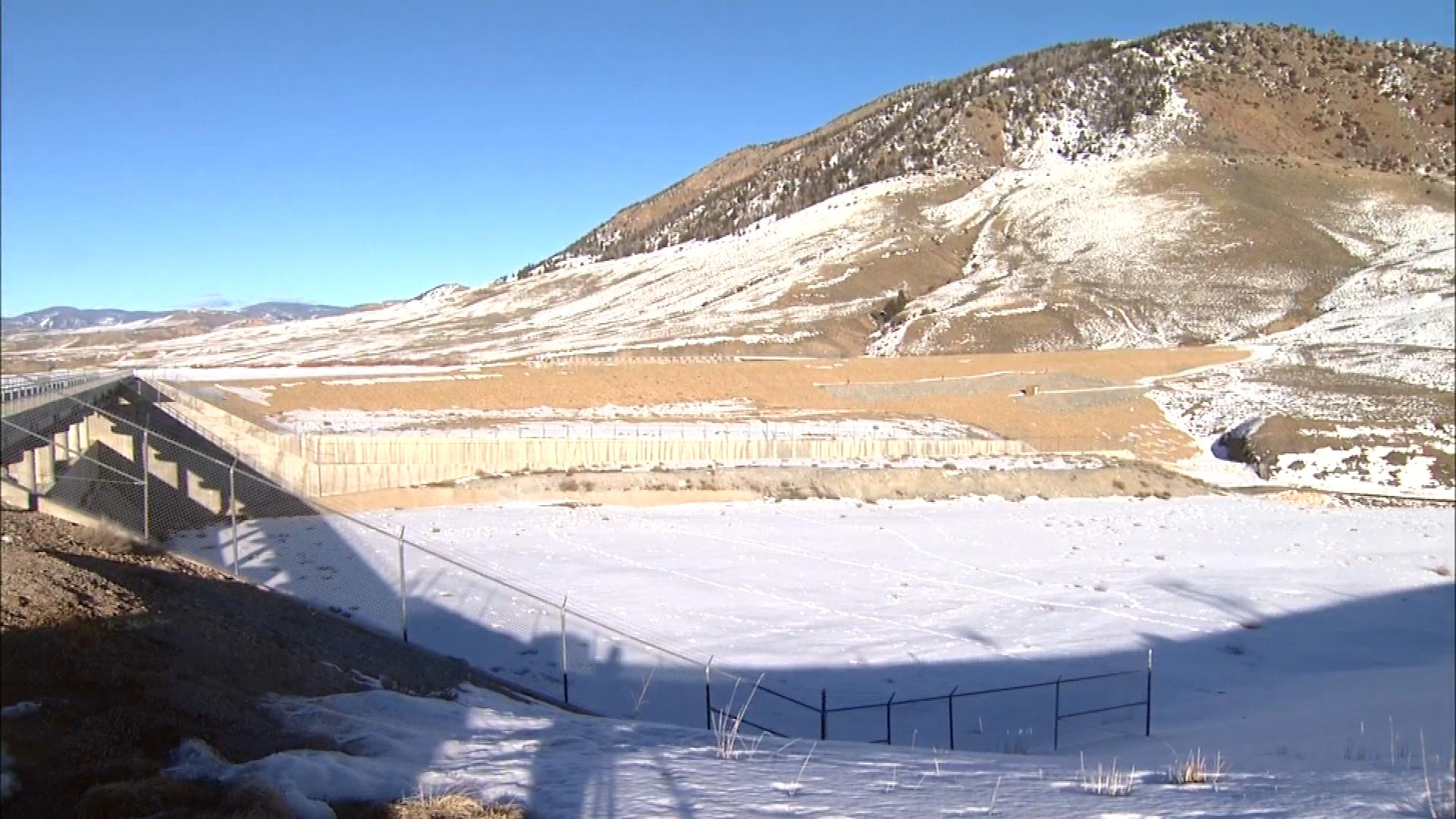 The Ritschard Dam on Wolford Mountain Reservoir (credit: CBS)