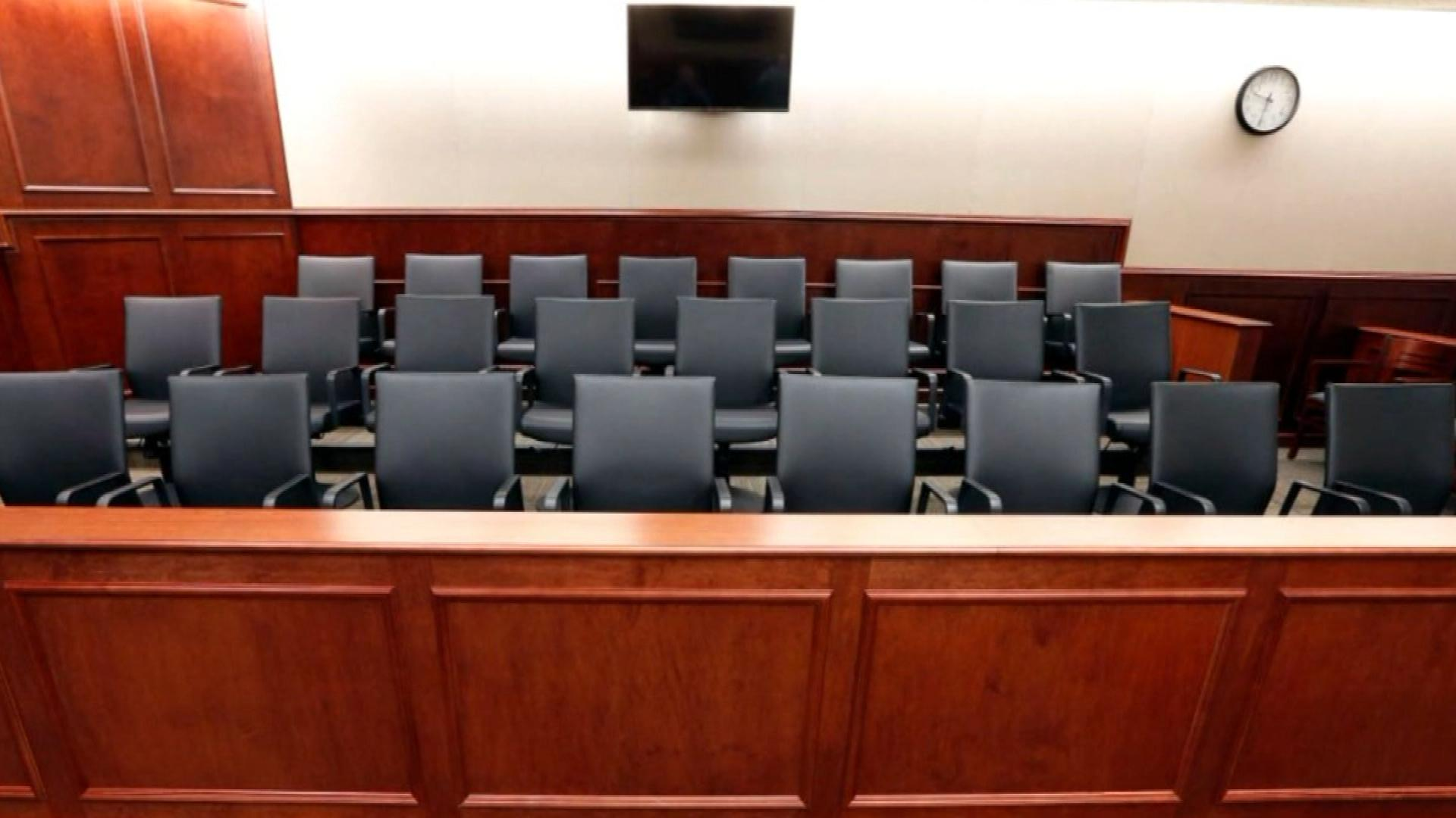 Where the jury will sit during the James Holmes trial (credit: CBS)