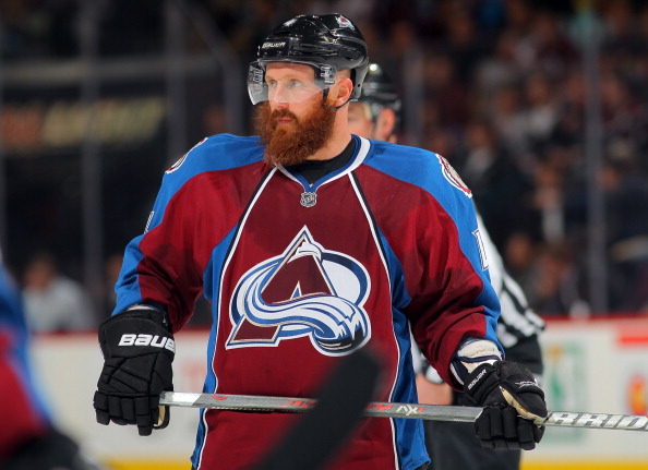 Former Avs player Greg Zanon was famous for his huge beard (Photo by Doug Pensinger/Getty Images)