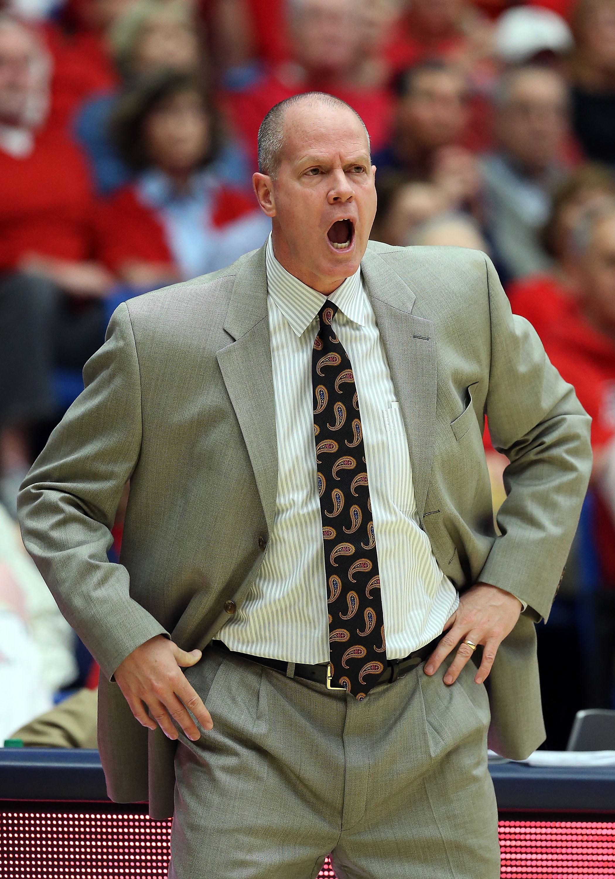 Head coach Tad Boyle of the Colorado Buffaloes  (credit: Christian Petersen/Getty Images)