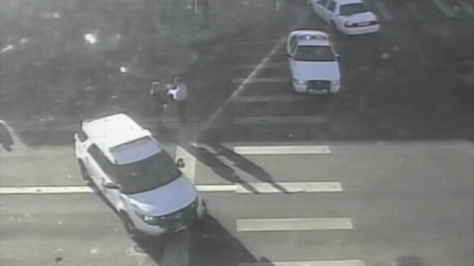 Police in Denver investigate a hit & run at 38th and Federal (credit: CBS)