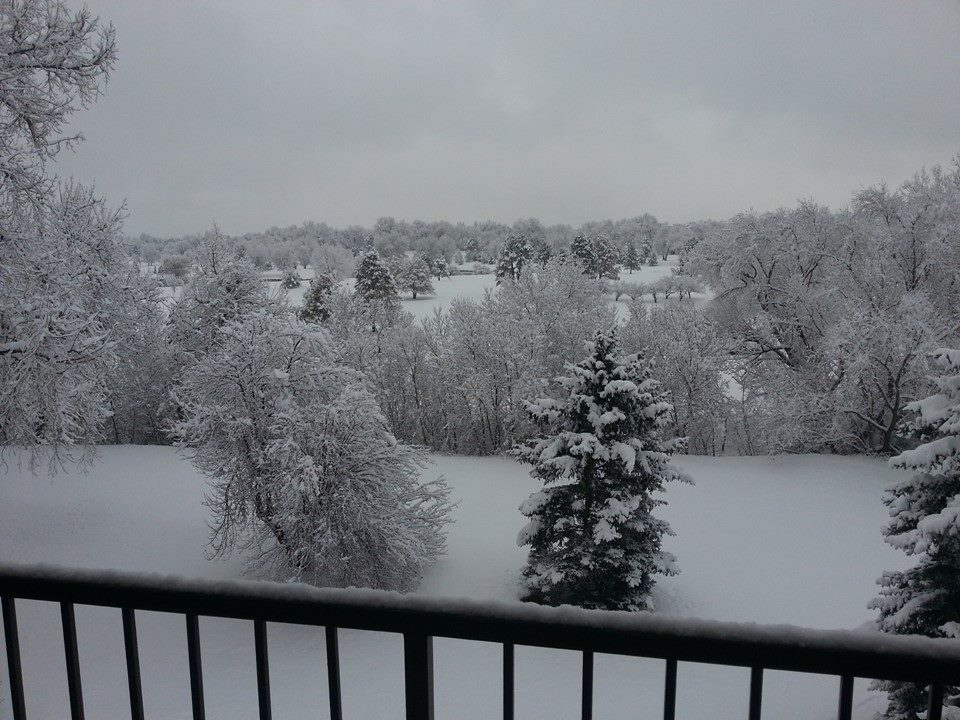 Narrow, but heavy bands of snow fell overnight in the northwest Denver metro area. This picture is from Kyle Kluge in Westminster.