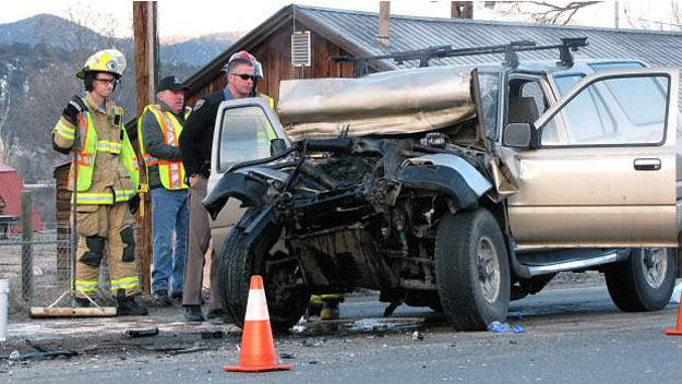 An image from the crash (credit: Randy Essex/Post Independent)
