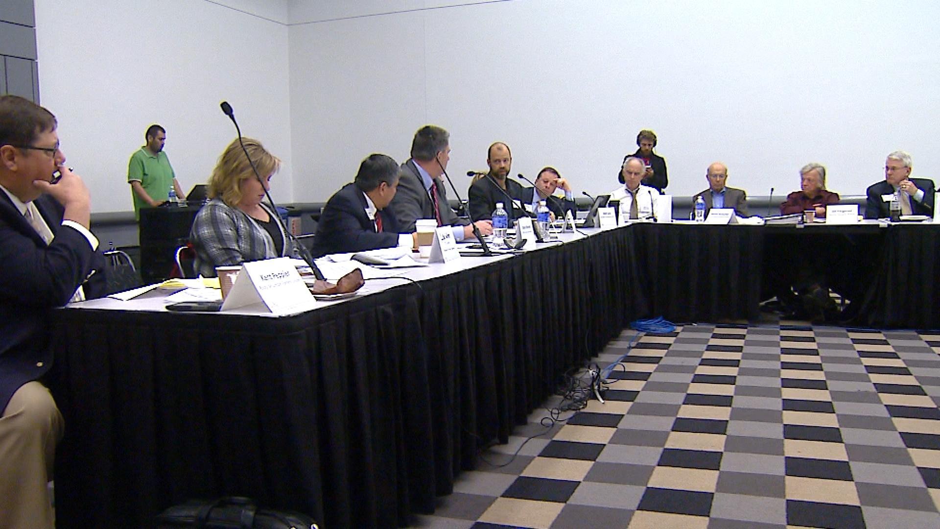 An image from Tuesday's meeting (credit: CBS)