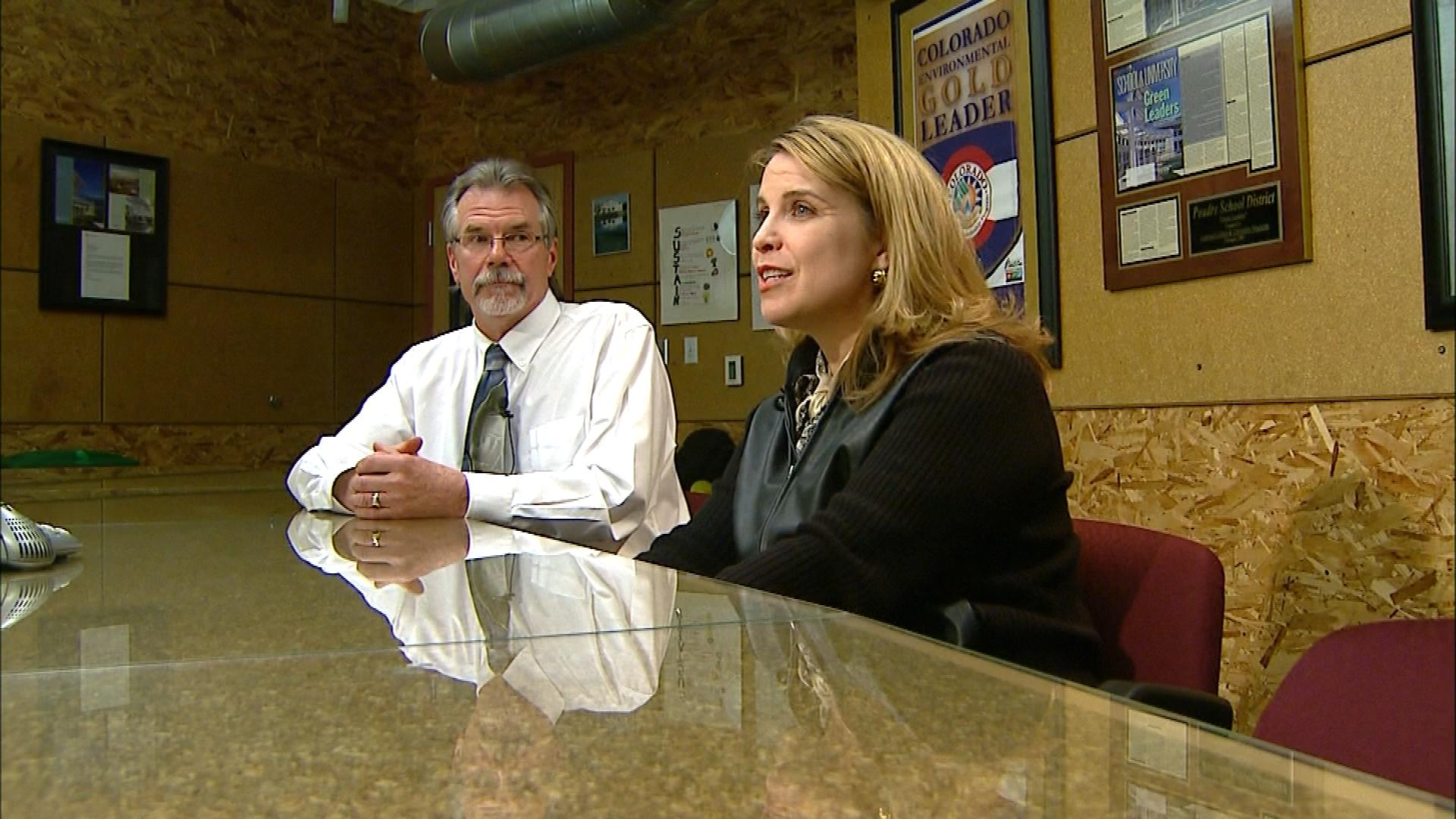 Pete Hall and Danielle Clark of the Poudre School District (credit: CBS)