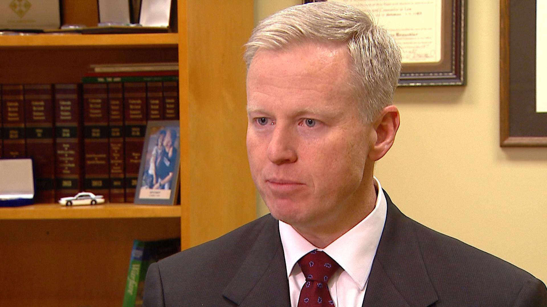 Arapahoe County District Attorney George Brauchler talks with CBS4's Brooke Rogers (credit: CBS)