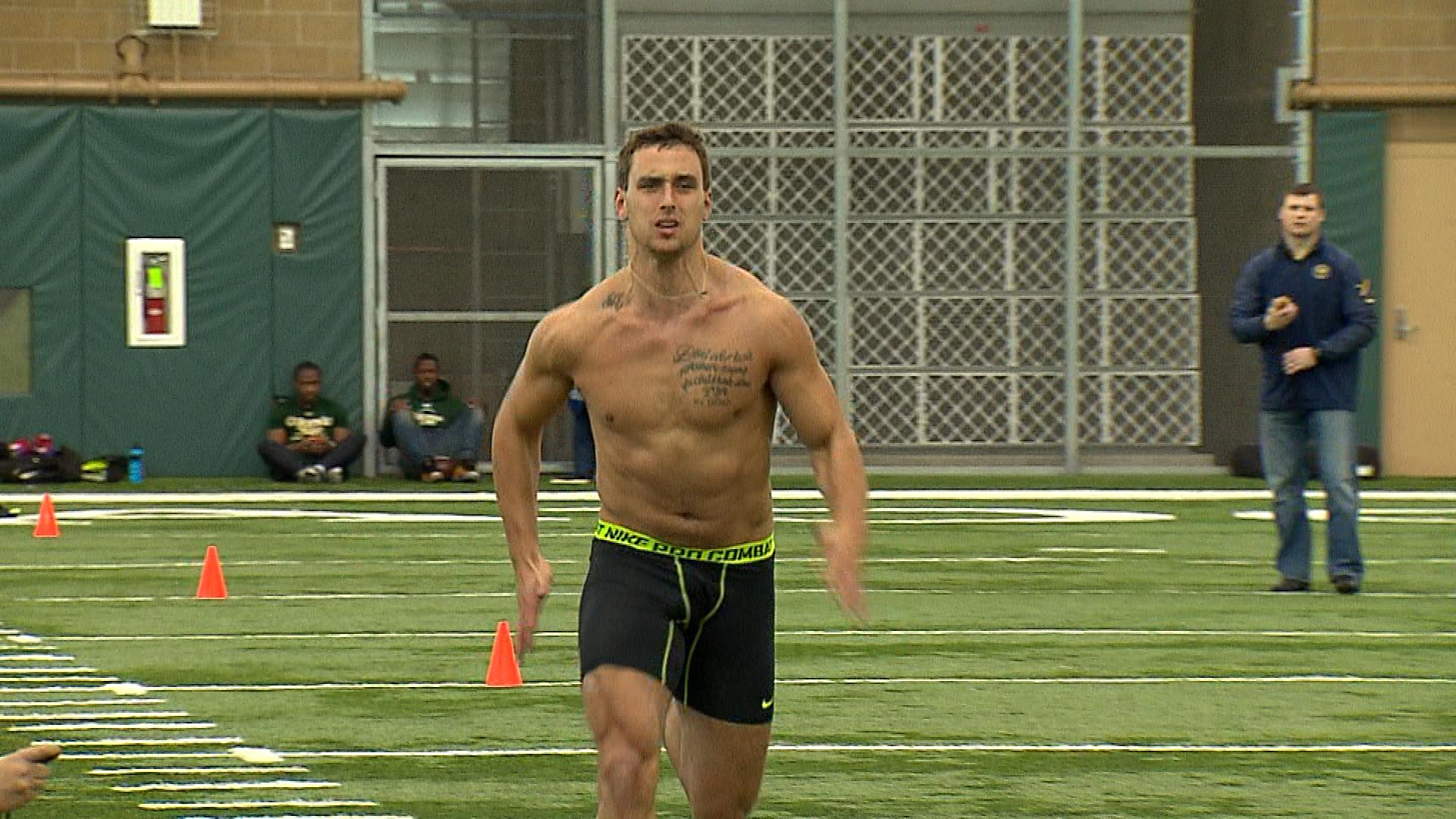Garrett Grayson during his pro day in Fort Collins last month. (credit: CBS)