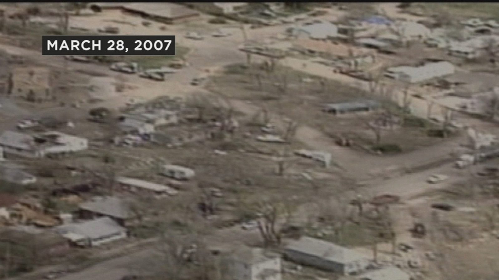 A view from the air after an EF-3 tornado heavily damaged the small town of Holly, Colo. on March 28, 2007. (credit: CBS)