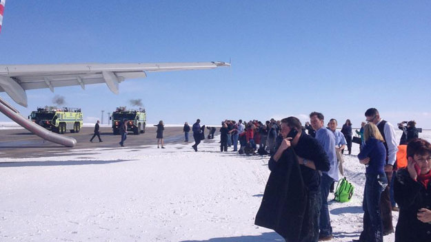 Passengers following the evacuation(credit: Andy Aldridge)