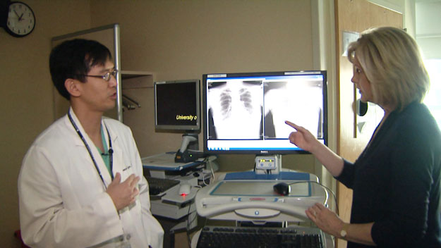Dr. Denny Lyu talks with CBS4's Kathy Walsh (credit: CBS)