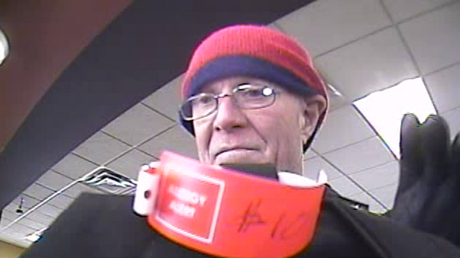 The FirstBank robbery suspect on March 3 (credit: Boulder Police)