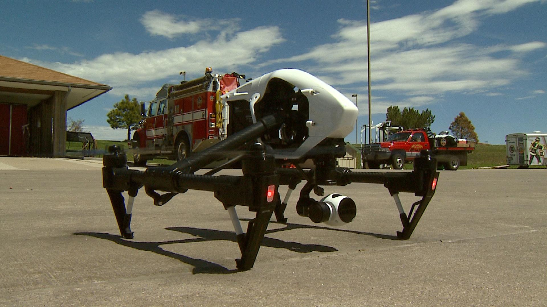 The South Metro Fire Rescue Authority drone (credit: CBS)