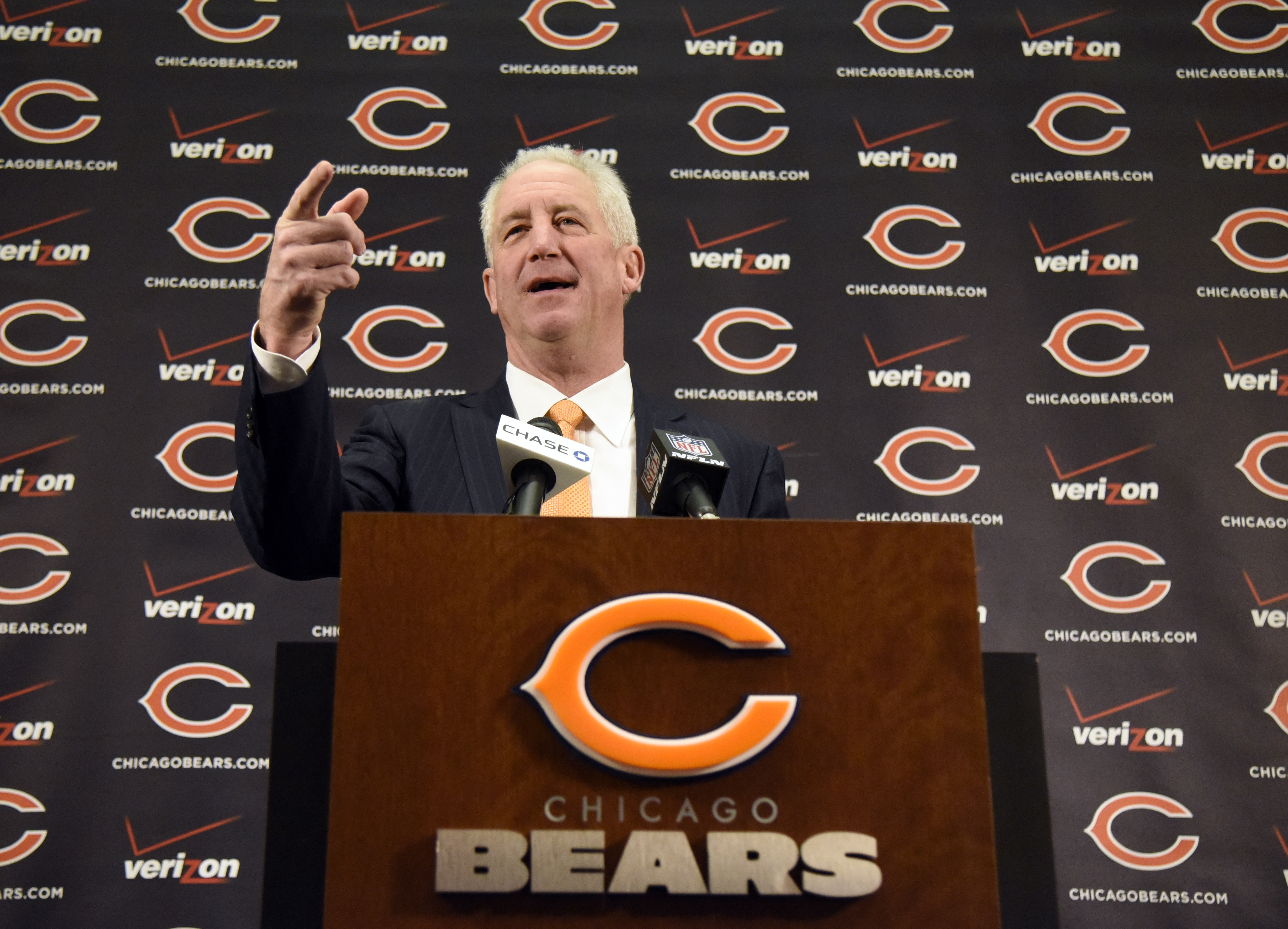 Chicago Bears new head coach John Fox on January 19, 2015 at Halas Hall in Lake Forest, Illinois.  (Photo by David Banks/Getty Images)