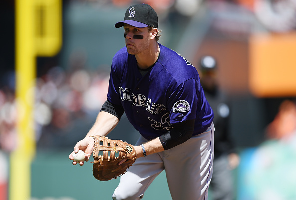 Justin Morneau #33 of the Colorado Rockies (Photo by Thearon W. Henderson/Getty Images)