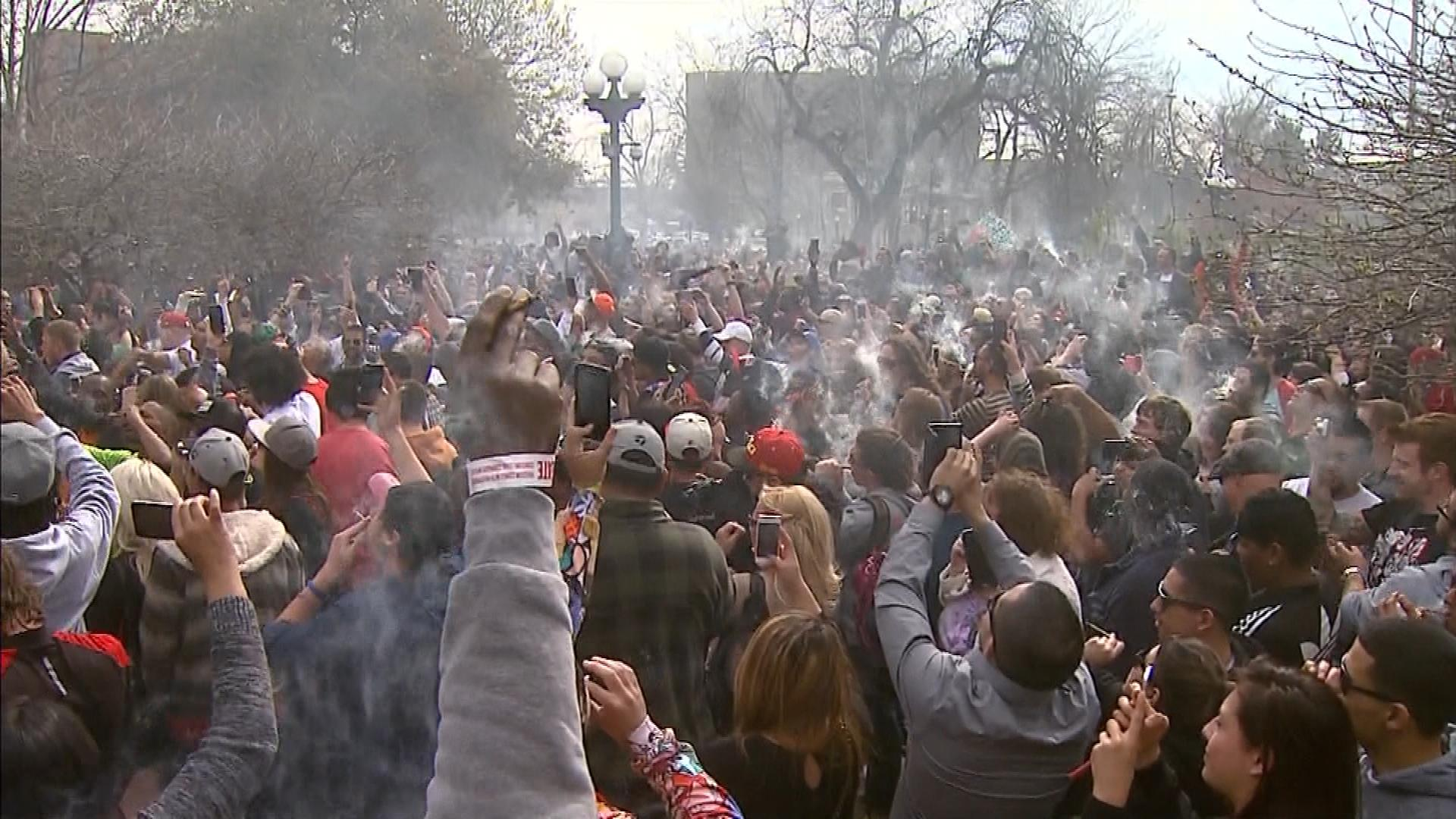 Lincoln Park on Monday (credit: CBS)