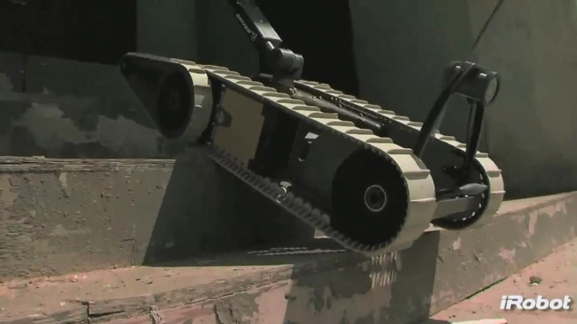 An urban robot the soldiers are accused of stealing (credit: CBS)