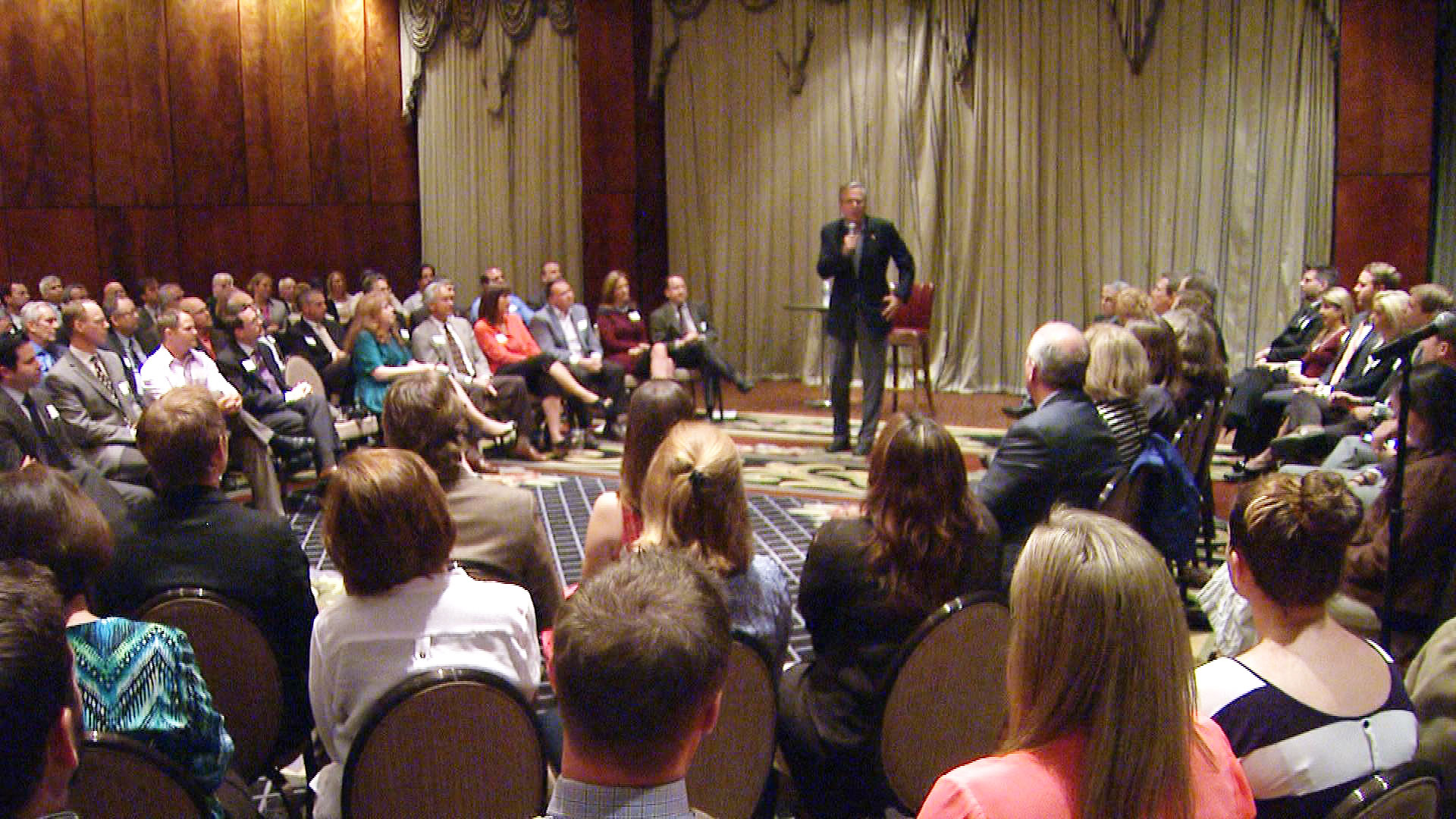 Jeb Bush at the event in Denver on Tuesday (credit: CBS)