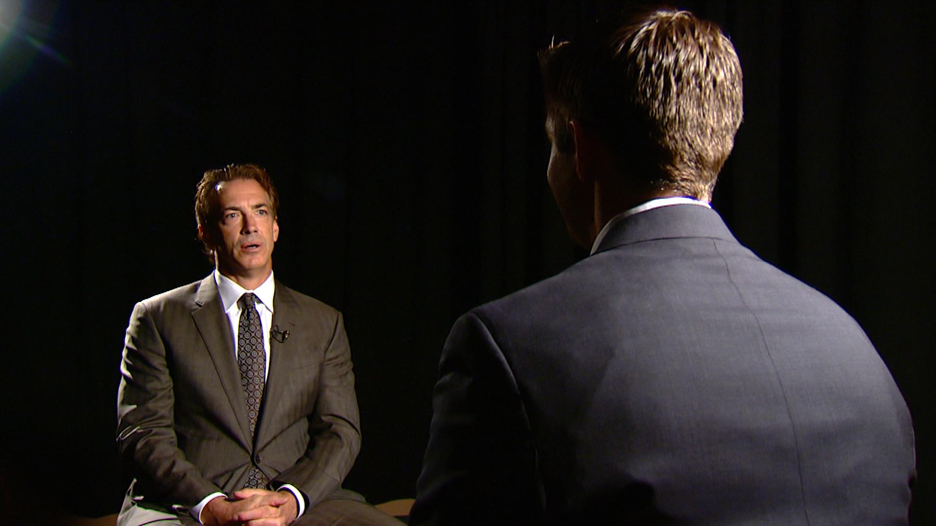 Joe Sakic sits down with CBS4's Mark Haas (credit: CBS)