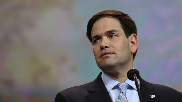 2016 Presidential Hopeful Marco Rubio (Photo by Justin Sullivan/Getty Images)