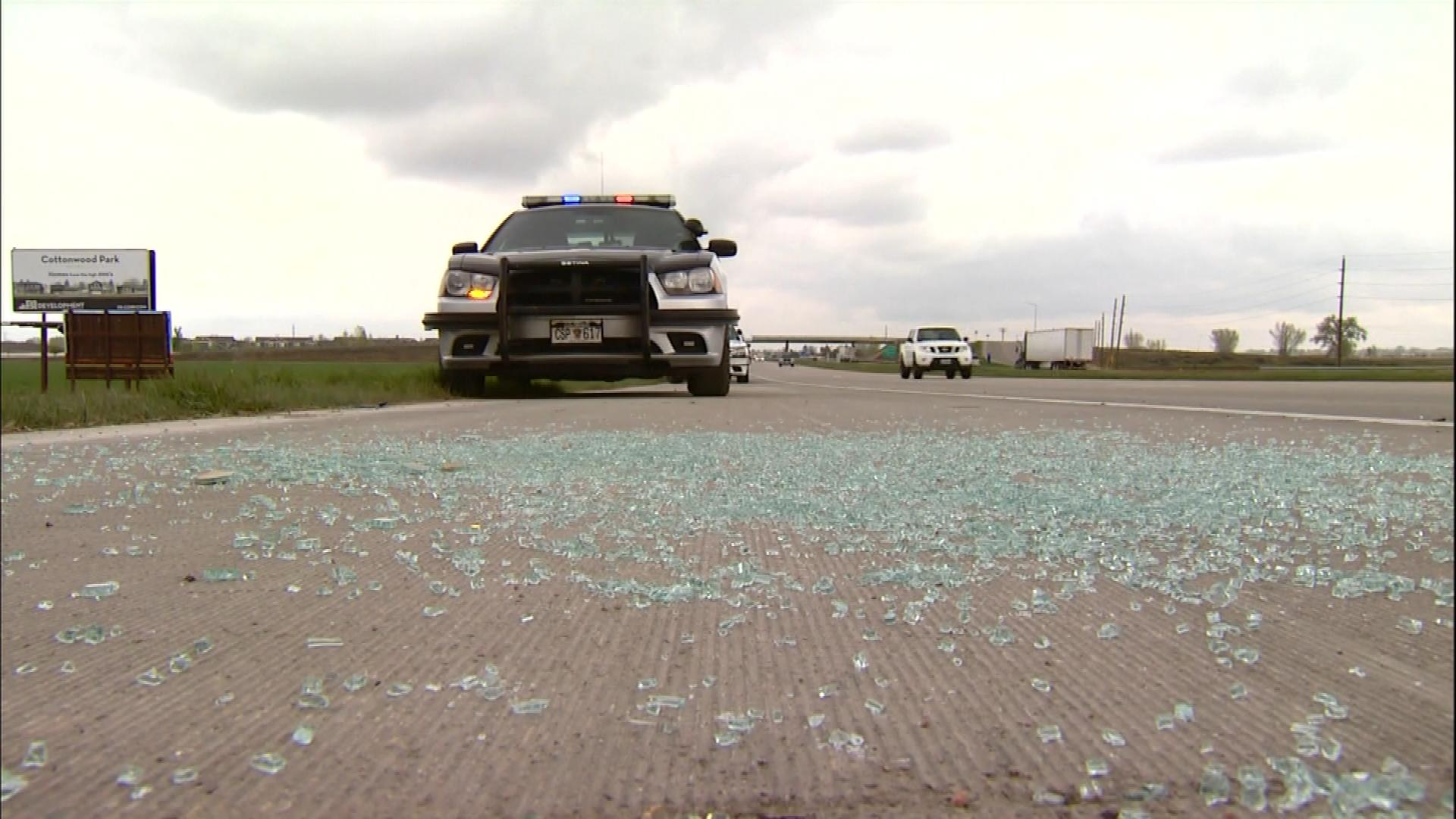 Randy Lingbloom's shattered window (credit: CBS)