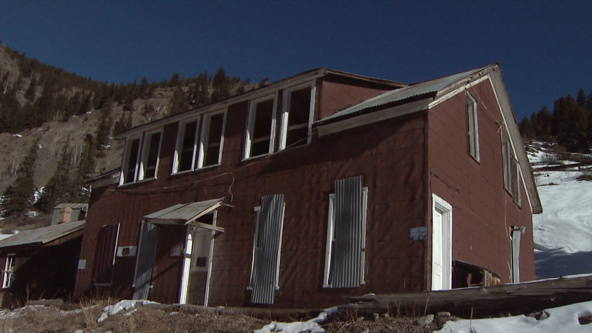 One of the miners' boarding houses. This one sat at the center of a large labor dispute when the mine operators forced the single miners to live in these houses, then deducted room and board fees from their pay (credit: CBS)