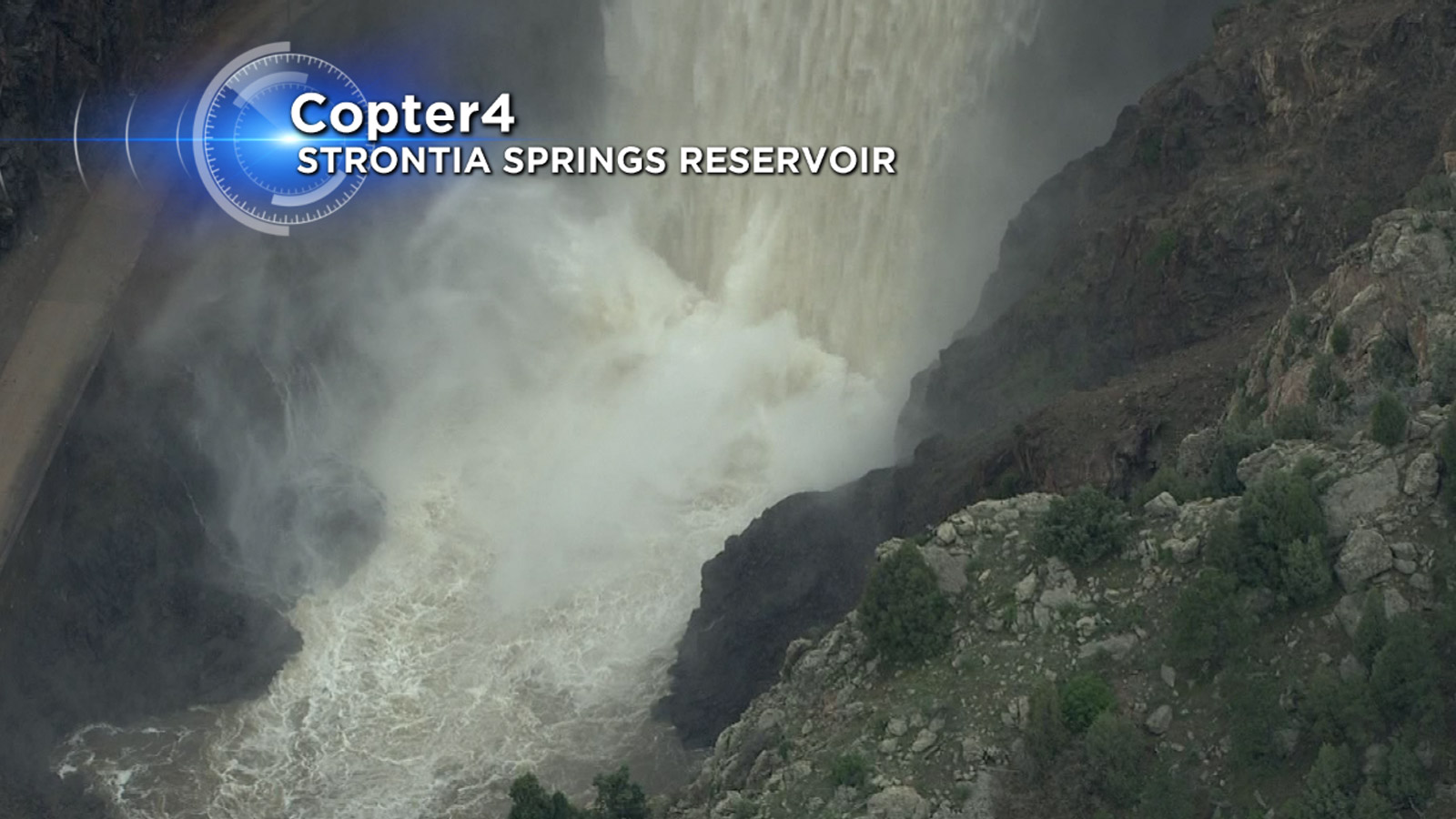 Copter4 flew over Strontia Springs Reservoir on Wednesday  (credit: CBS)