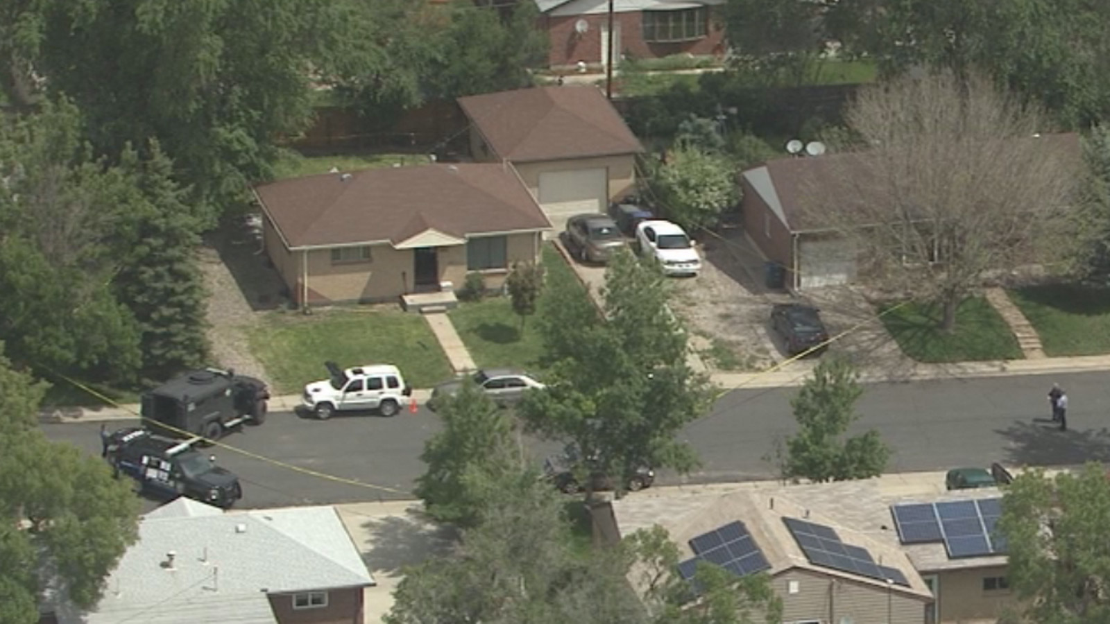 Copter4 flew over the scene where the Northglenn officer was shot (credit: CBS)