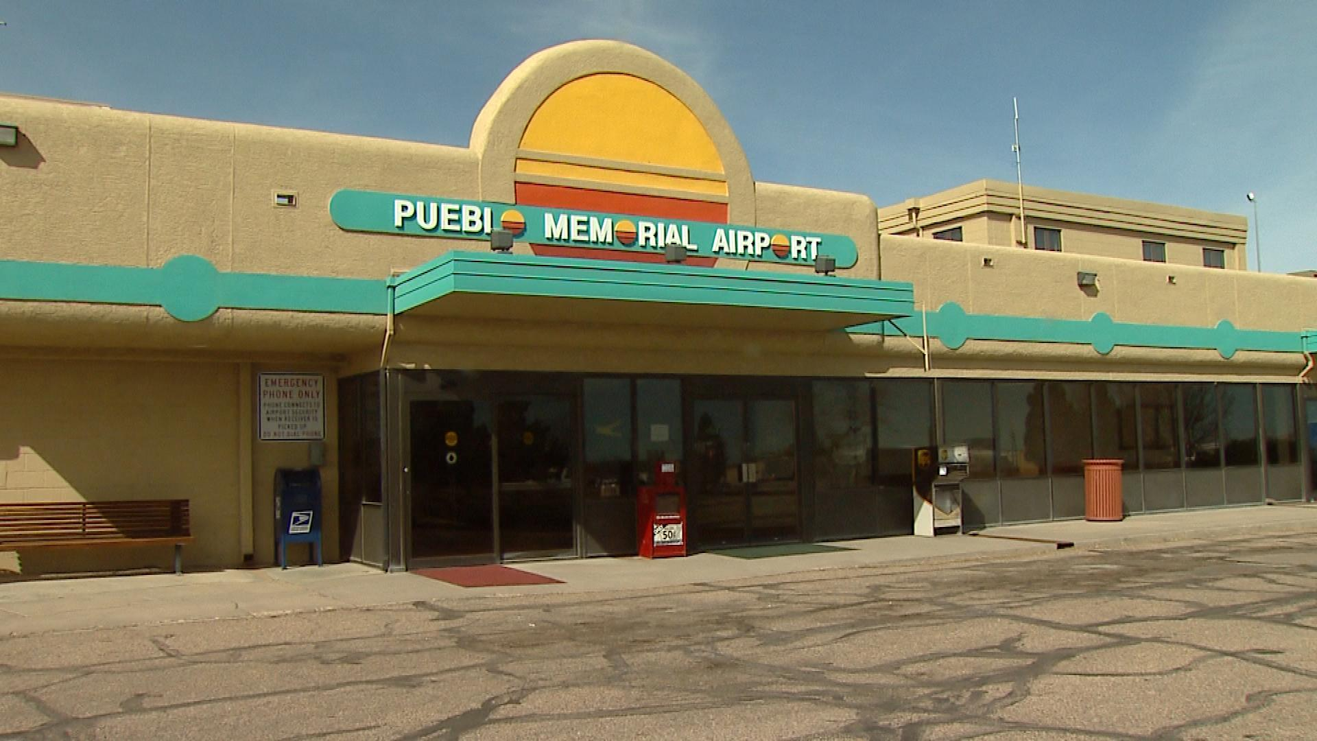 The Pueblo Memorial Airport (credit: CBS)