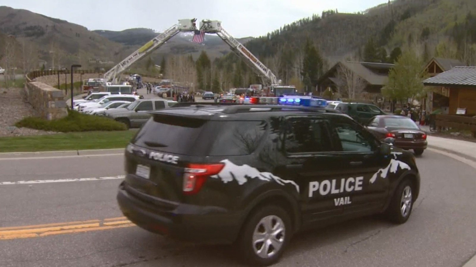 """The """"Ride of Remembrance"""" in Eagle County (credit: CBS)"""