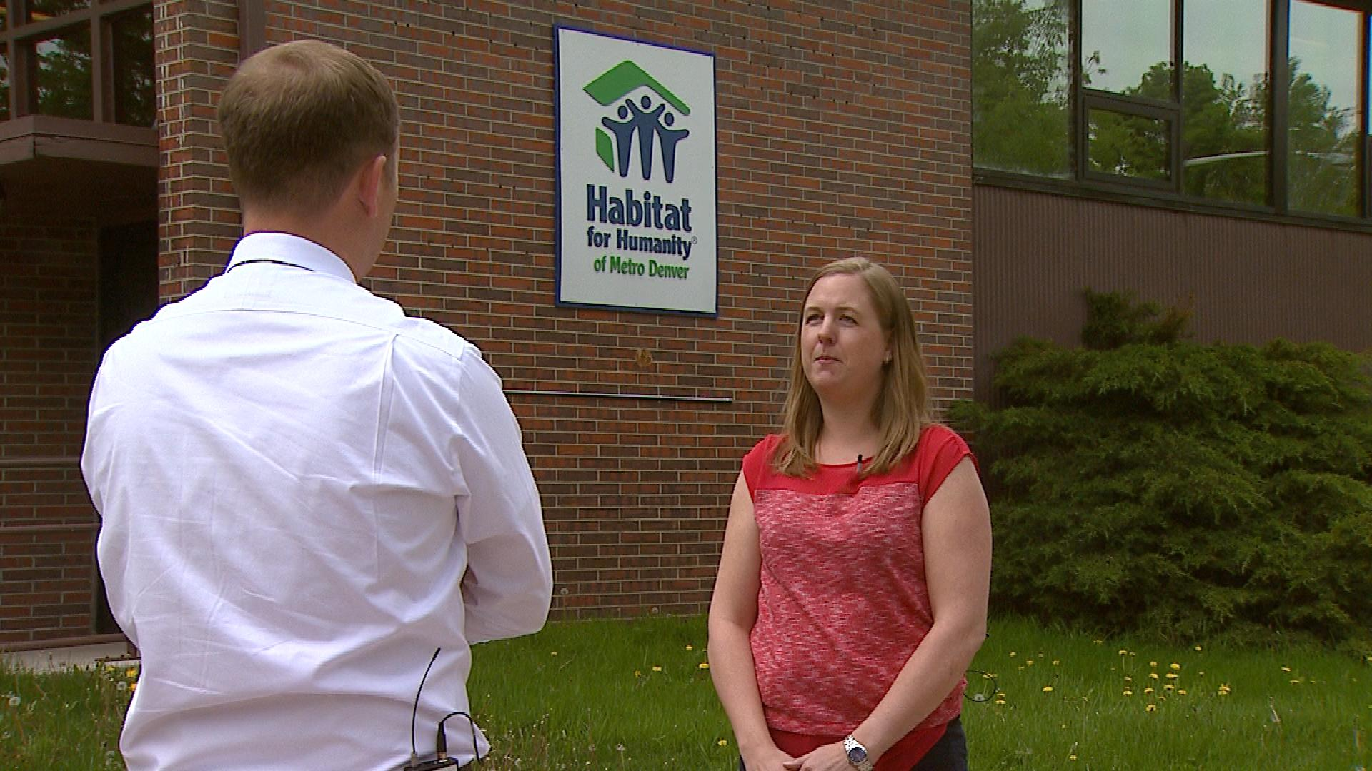 CBS4's Jeff Todd talks with Robyn Burns with Habitat for Humanity of Metro Denver (credit: CBS)