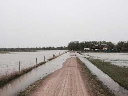 South Platte River flooding northeast of Fort Morgan during early May 2015. (credit: Lauren DiSpirito)