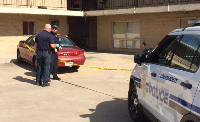 The crime scene Sunday morning (credit: Longmont Police Department)