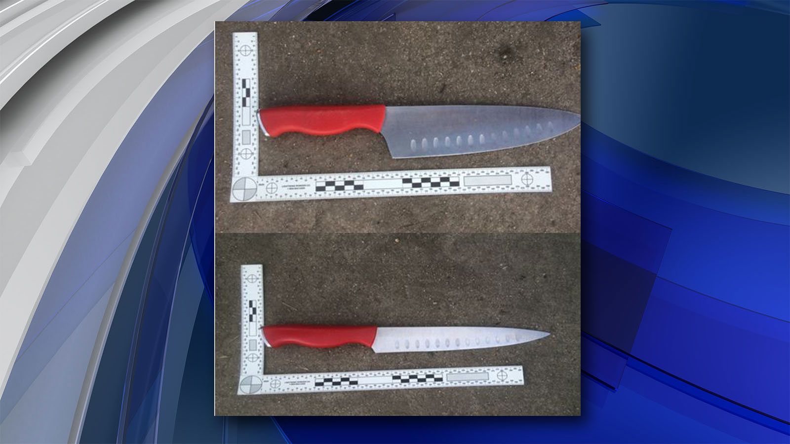 The knives taken from the suspect (credit: Longmont Police Department)