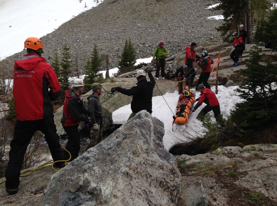 An image from the rescue (credit: Summit County Search and Rescue)