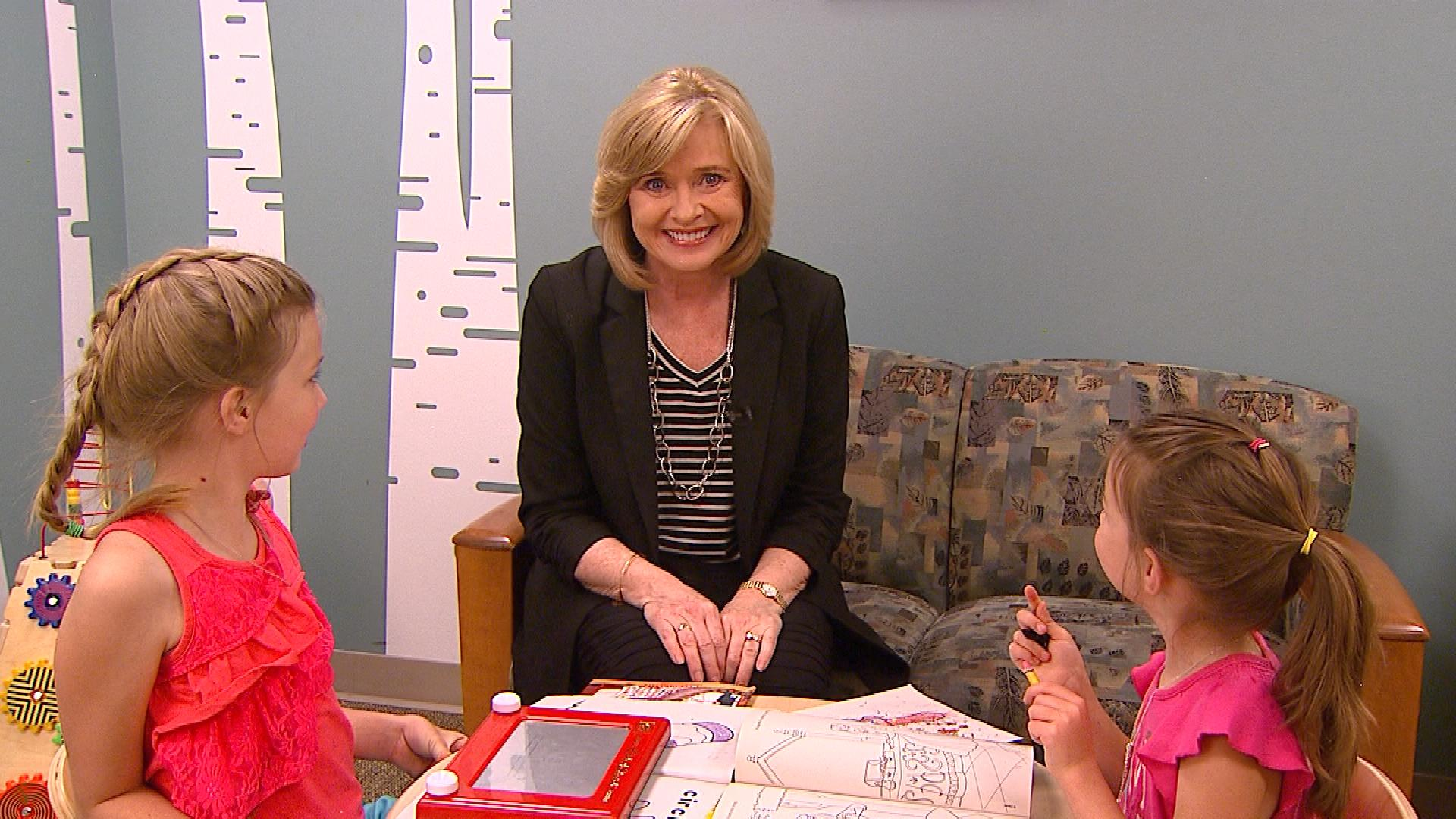 CBS4 Health Specialist Kathy Walsh in the Bright Spaces room (credit: CBS)