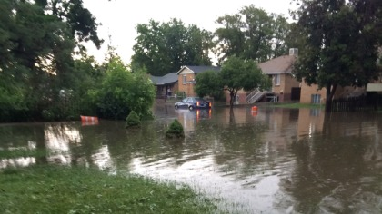 Flooding at 33rd and Olive (credit: CBS4 YouReporter)