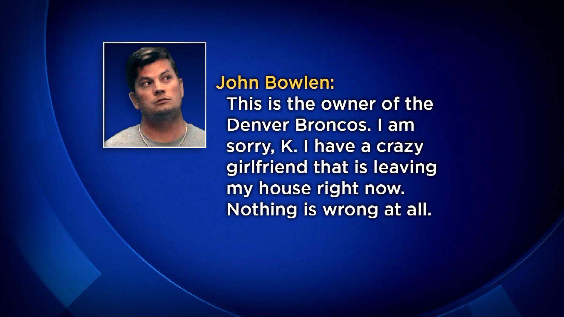 A portion of the 911 call with John Bowlen (credit: CBS)