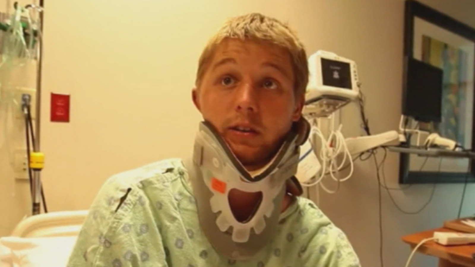 Joshua Barber describes being attacked by a bear (credit: Durango Herald)