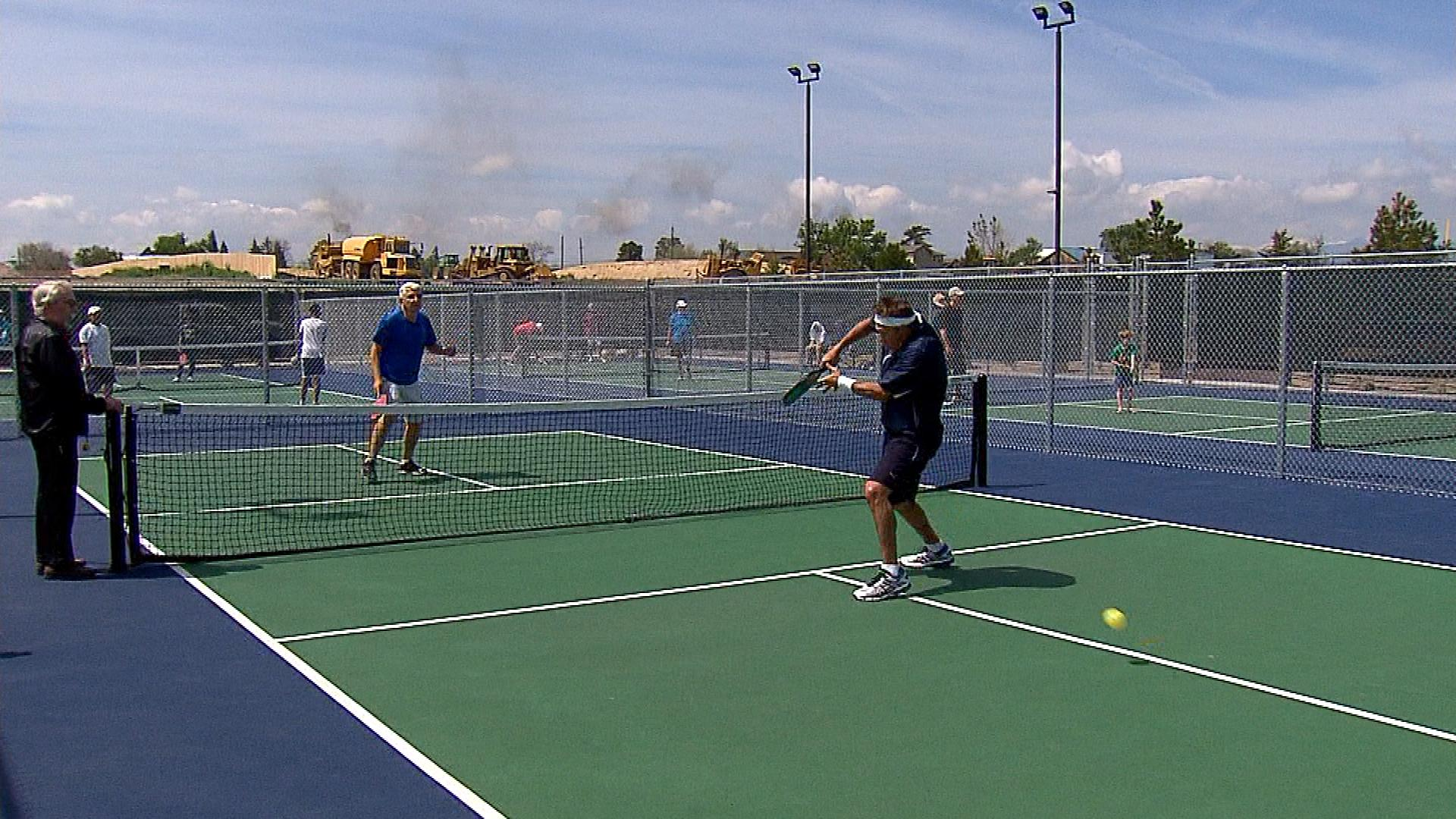 CBS4's Vic Lombardi taking his lumps at pickleball (credit: CBS)