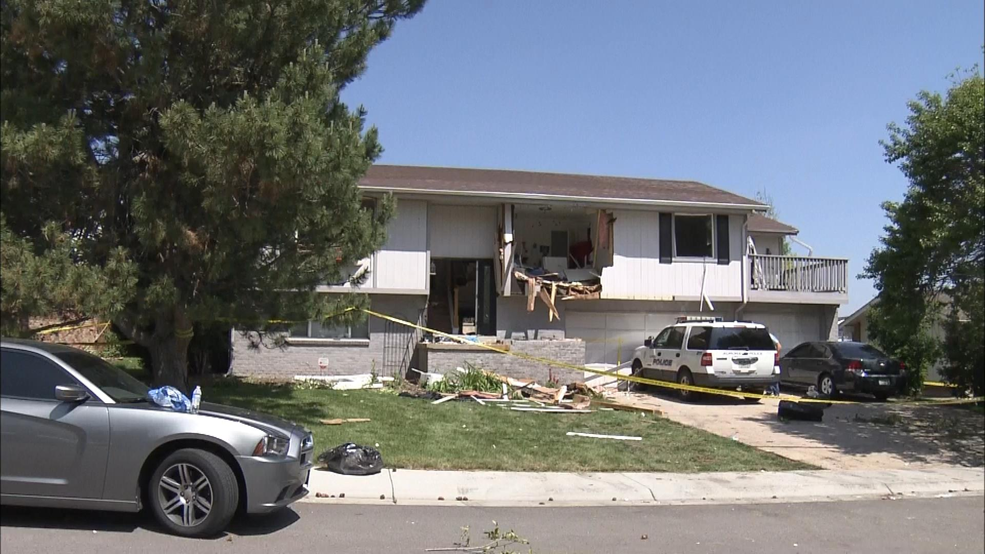 The home following the standoff (credit: CBS)