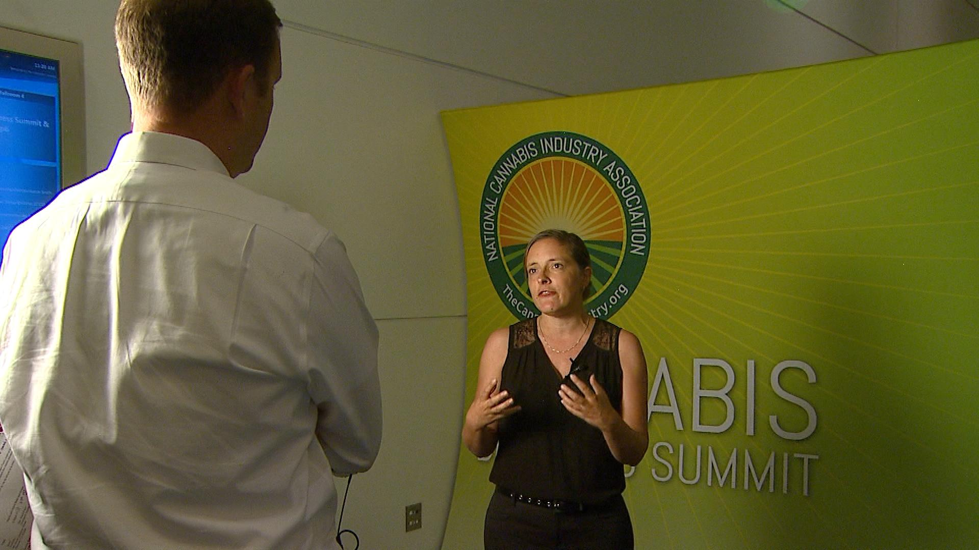 CBS4's Jeff Todd talks with Taylor West, National Cannabis Industry Association Deputy Director (credit: CBS)