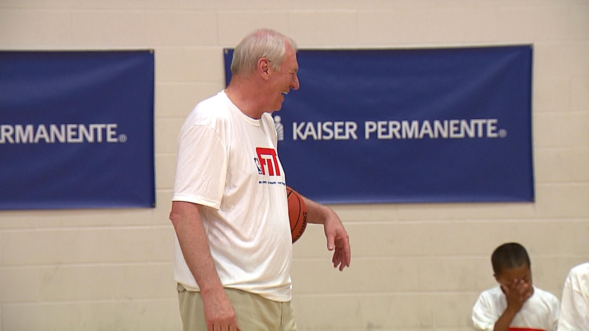 Dan Issel at the event (credit: CBS)