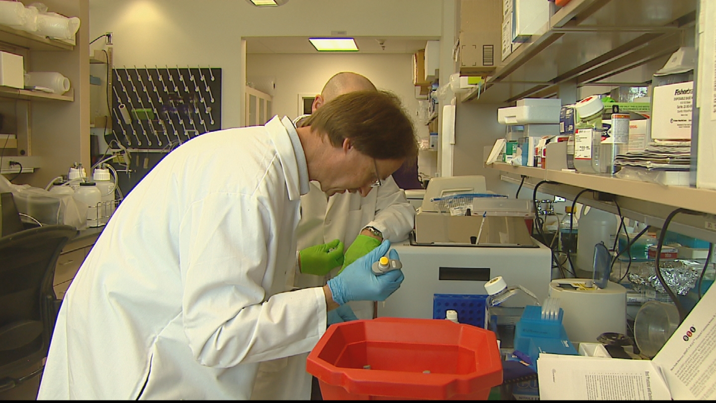 Researchers at Rocky Mountain Alzheimer's Disease Center at CU Anschutz Medical Campus (credit: CBS)
