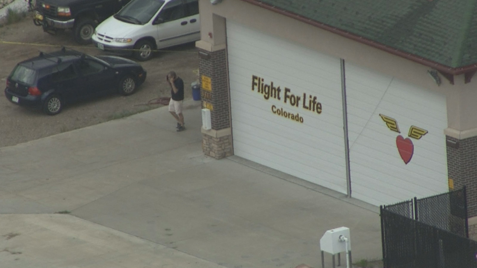 The Flight for Life garage at St. Anthony's Summit Medical Center in Frisco (credit: CBS)
