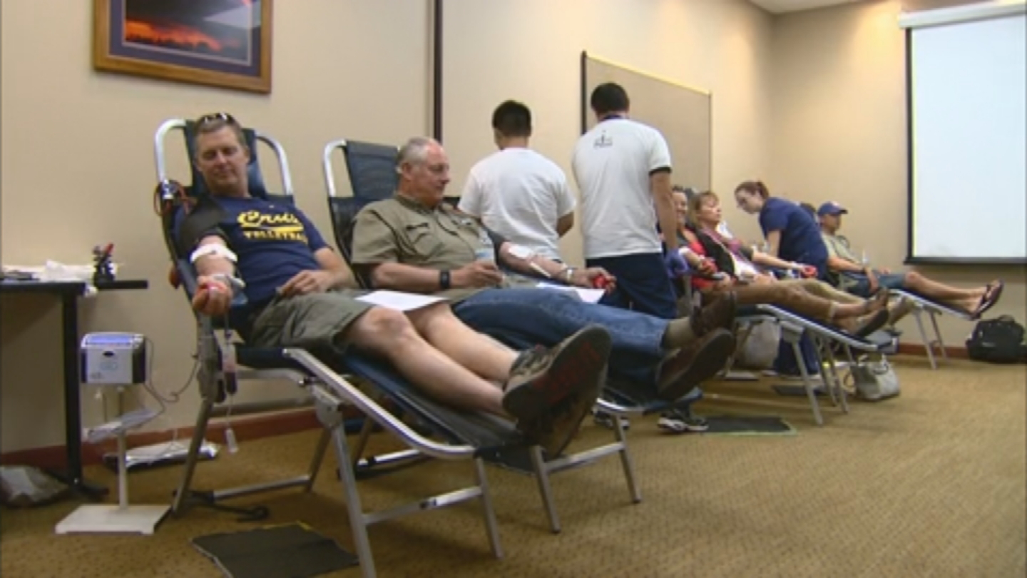 The Flight for Life blood drive in Frisco (credit: CBS)