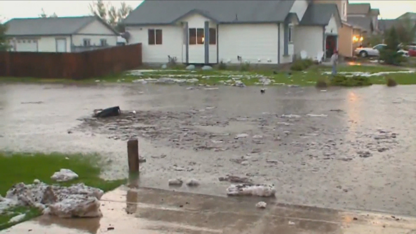 Flooding in El Paso County during the early summer of 2015 after weeks of heavy rain. (credit: CBS)