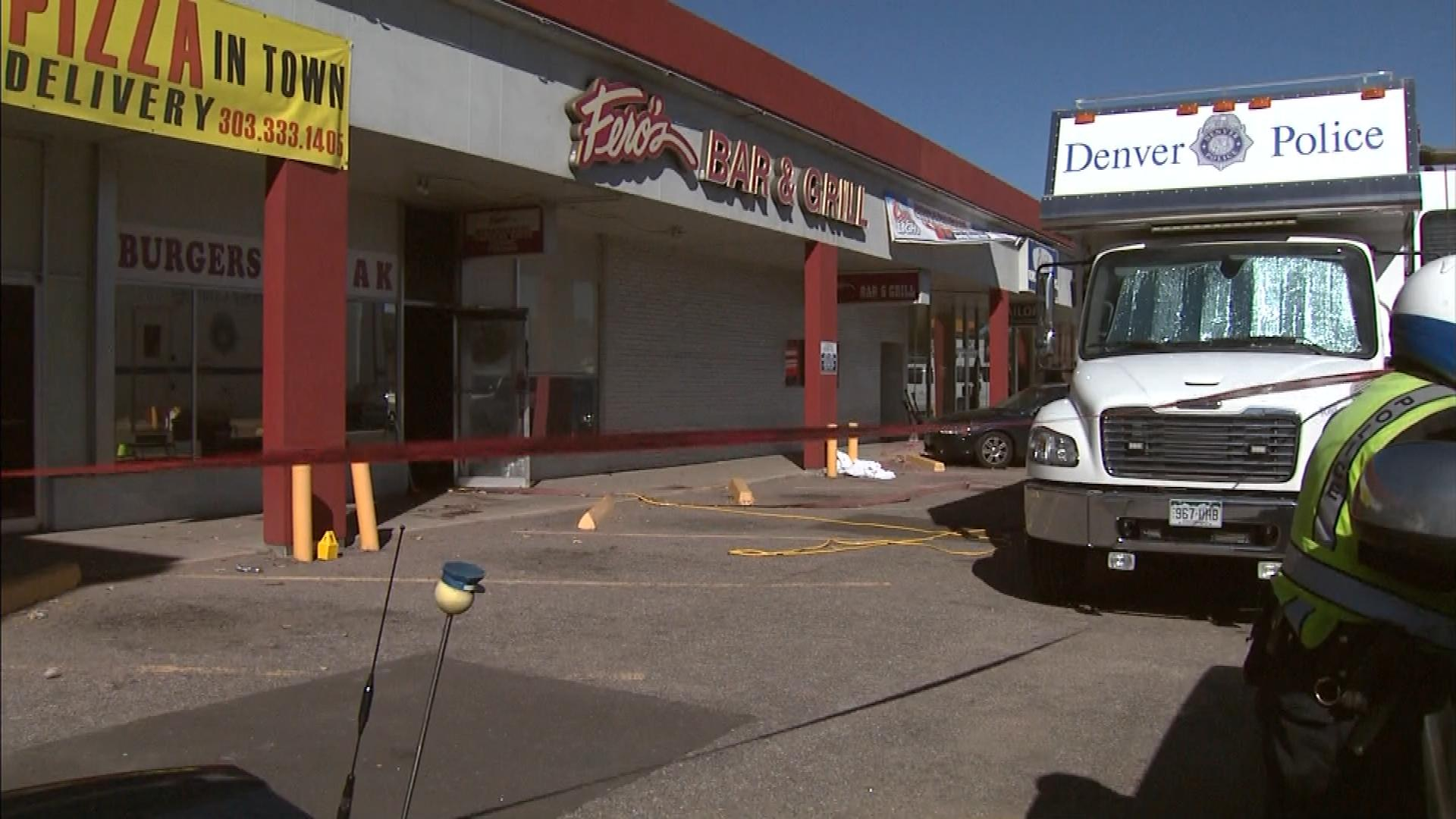 Fero's Bar and Grill after the stabbings (credit: CBS)