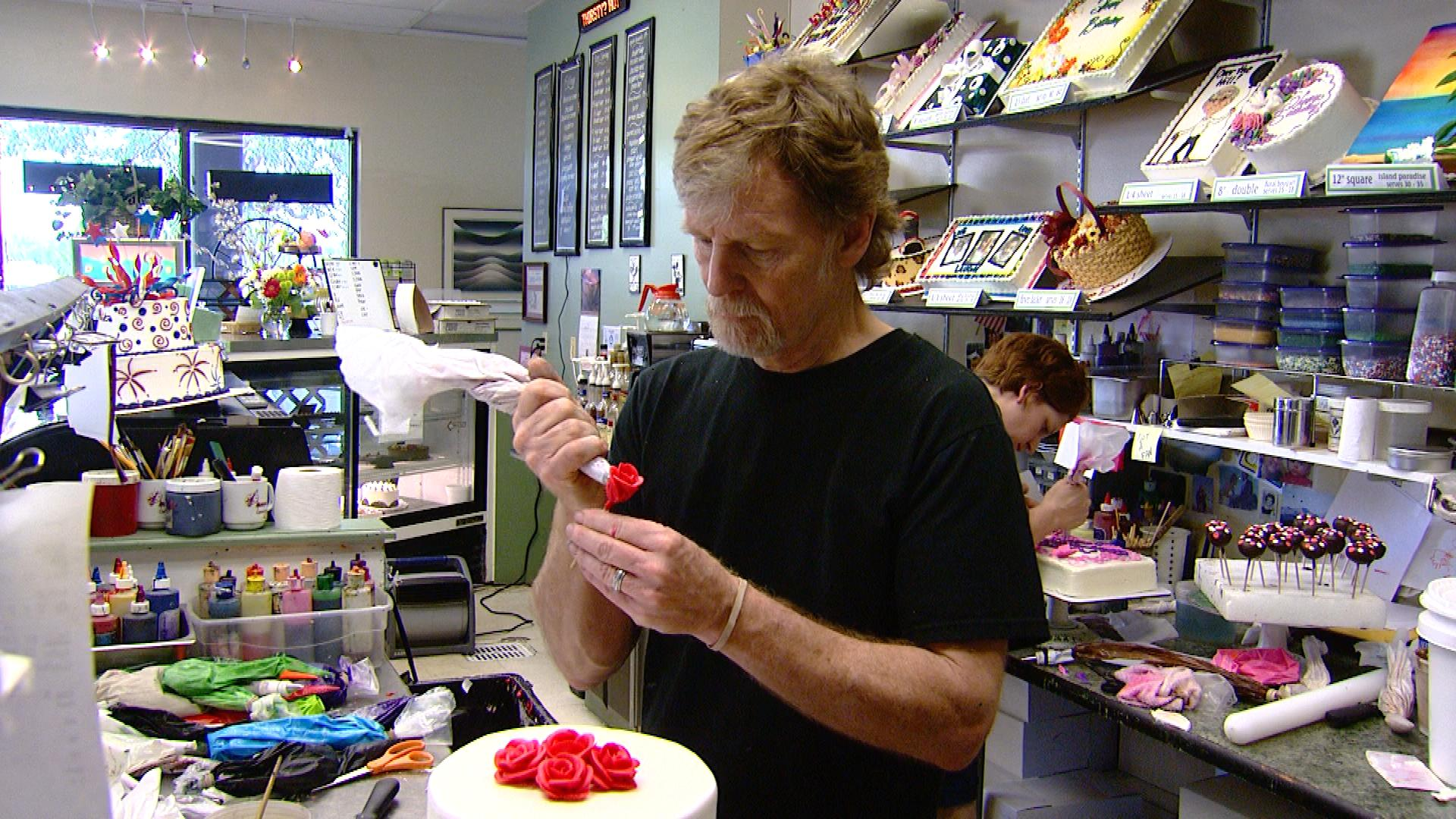 Jack Phillips at his shop (credit: CBS)