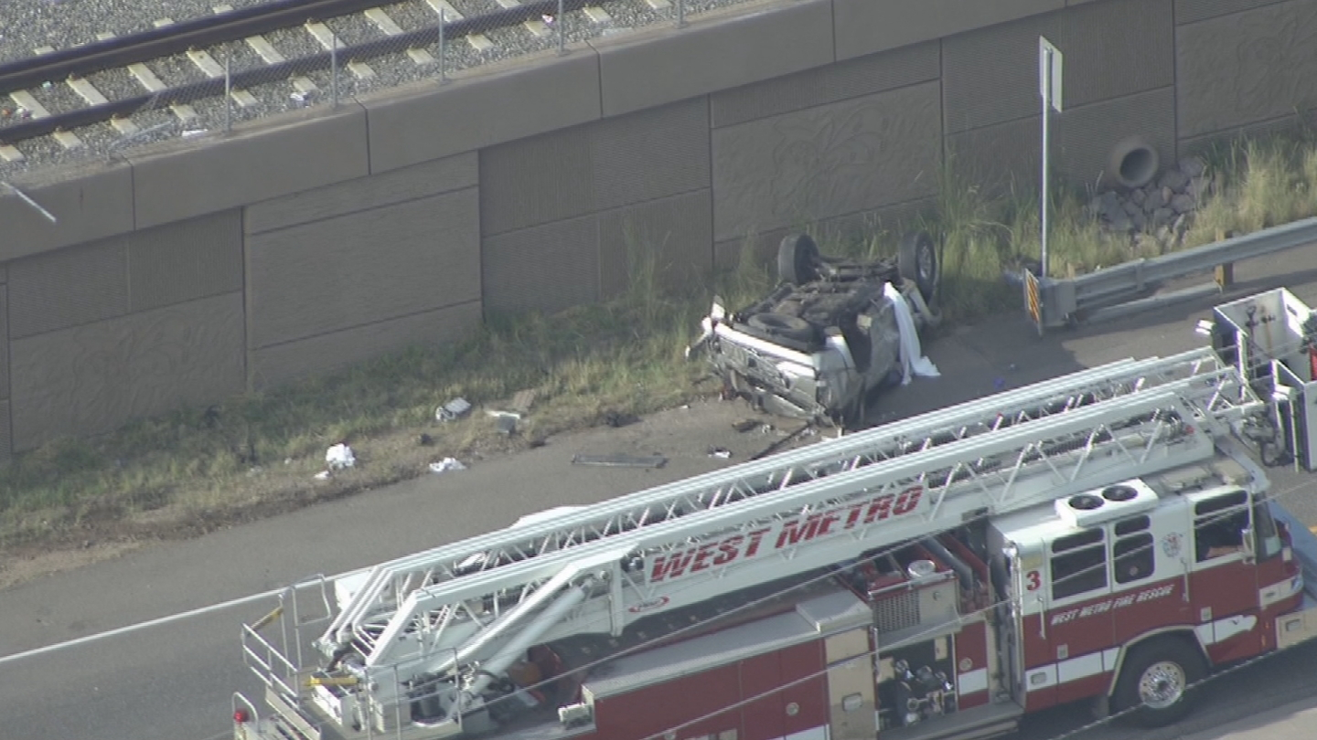 Police in Lakewood say a driver was distracted before this crash on 6th Ave. (credit: CBS)
