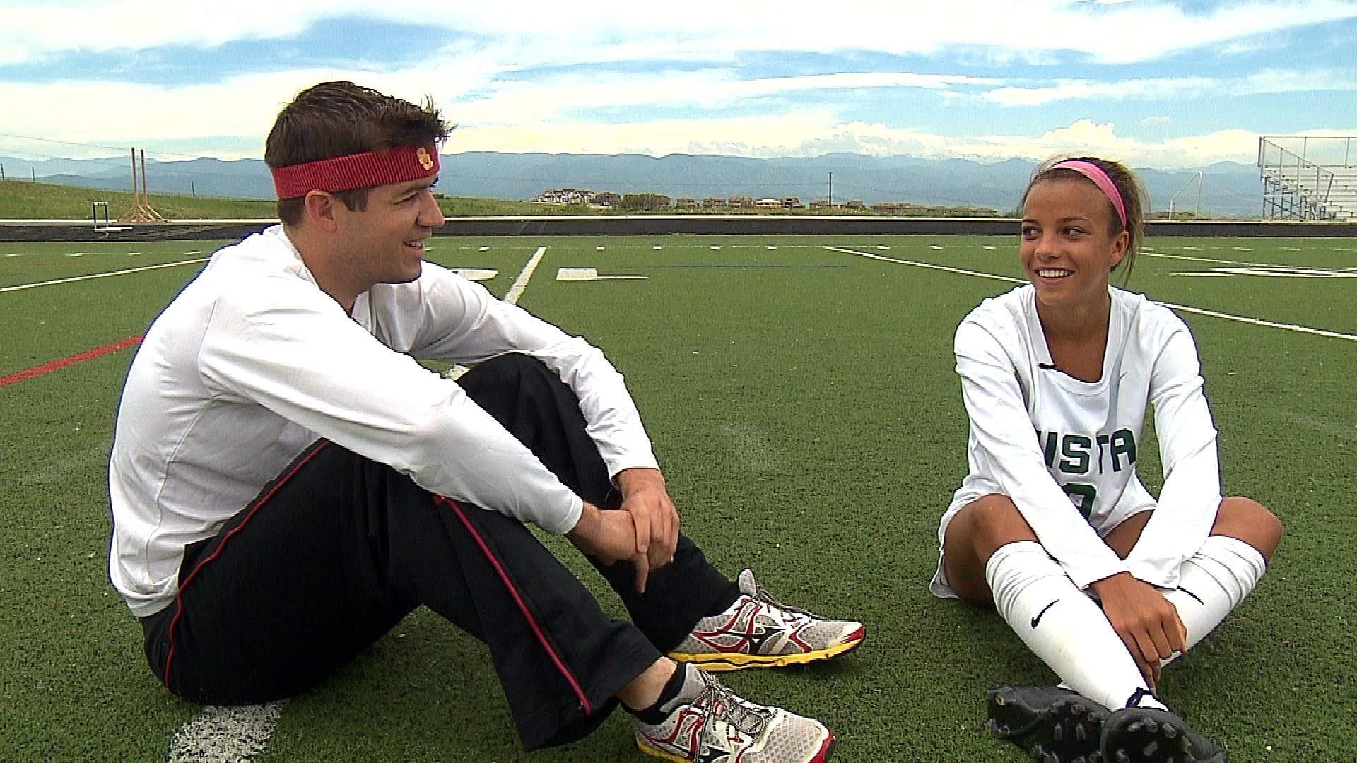CBS4's Mark Haas chats with Mallory Pugh (credit: CBS)